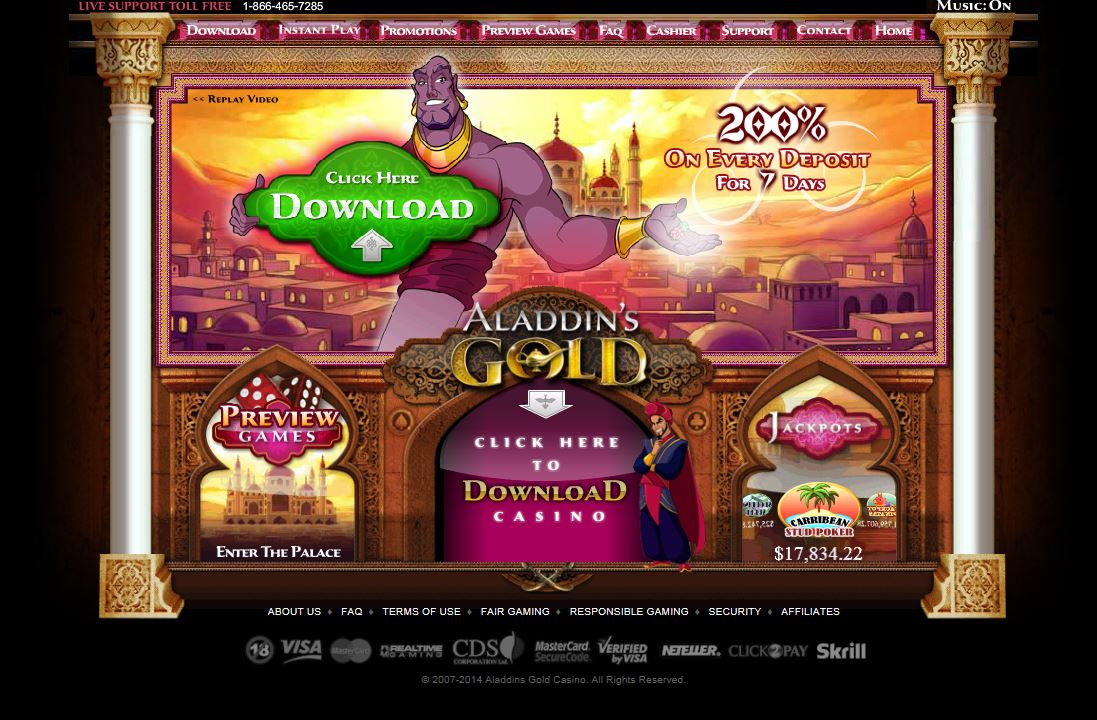 Aladdins Gold Casino Mobile